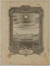 Astronomie SONNE Sonnenuhr Original Ornament Kupferstich um 1750 Rollwerk Kunst