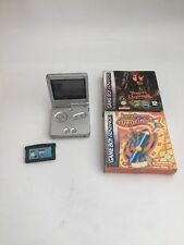 Nintendo Gameboy Advance Console GBA SP - Silver With Extras - Free Uk Pp