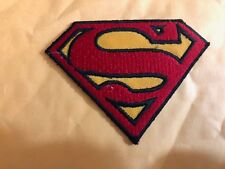 SUPERHERO SUPERMAN LOGO EMBROIDERY PATCH IRON ON OR SEW ON