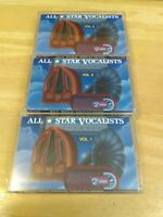 Lot Set of 3 All Star Vocalists Volumes 1 2 and 3 Cassette Tapes