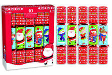 "10 x 12"" Red Novelty Kids Character Christmas Crackers Gifts Festive Party"