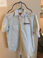 KAWASAKI RACING Button Up Work Shirt!  Size L