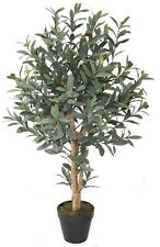 FAUX OLIVE TREE PLANT IN POT ARTIFICIAL FLOWER FAKE FLORAL INDOOR DISPLAY 90CM