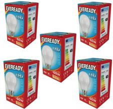 LED BULB 60W WARM WHITE EVEREADY ES E27 SCREW FIT 5.5W MULTI PACK 5 X BULBS GLS