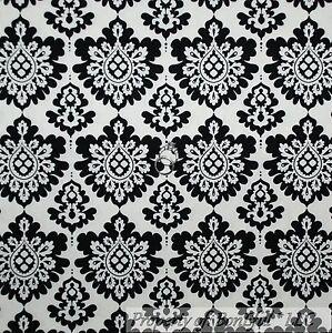 BonEful Fabric Cotton Quilt VTG White Black Flower Damask Dot B&W LAST Dot SCRAP