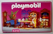 Vintage Playmobil 5316~Blue Living/Dining Room & Maid for Victorian Mansion~NISB