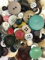 Vtg Old Buttons 3+ Pounds! Mixed Colors Sizes Includes Brights Sewing Crafts
