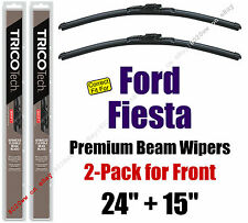 Wipers 2-Pack Premium Beam Wiper Blades - fit 2011+ Ford Fiesta 19240/150