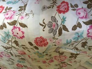 Designer Guild floral and striped duvet set, 100 cotton