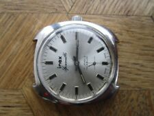 Vintage St. Steel INEX Spaceville Manual Watch. Cal. Unitas 6325 For parts.