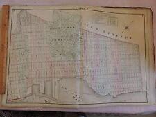 1874 original Beers Map Brooklyn Sunset Park Greenwood Cemetery Heights
