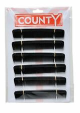 "24 x County Gents Mens 6"" Hair Dressing Styling Pocket Comb Black Hairdressers"