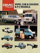 GMC Van Chassis-Cab & Forward Control Models 1988 USA Market Sales Brochure
