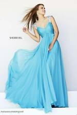 Sherri Hill 11076 Turquoise Jeweled Pageant Prom Gown Dress sz 2