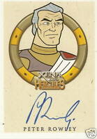 Hercules Xena Peter Rowley as Zeus Autograph auto insert trading card