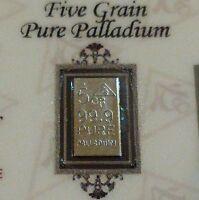 COA Included for Palladium 99.9 Pure 5Grain Precious Metal Bullion PD Bar ACB +