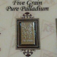 COA Included for Palladium 99.9 Pure 5Grains Precious Metal ACB Bullion PD Bar $