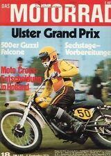M7118 + Test MOTO GUZZI Falcone 500 ccm + Besuch bei Rotax + MOTORRAD 18/1971