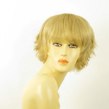 perruque femme 100% cheveux naturel courte blonde ref AUDE 22