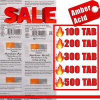 AMBER ACID |Succinic Acid 100 - 500 TAB| EXP DATE 06/2022 | Succinic Acid