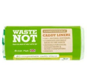 100 x 10l Waste Not Compostable Food Caddy Liners Biodegradable Bag 10 Litre