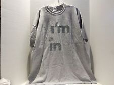 N.Y. LOTTERY I`M IN PROMO LOGO T-SHIRT (2XL) GRAY - VERY RARE