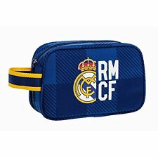 """REAL MADRID """"BLUE"""" Neceser bolsa de aseo 22 cm // Carrying case with zip"""
