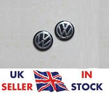 2x (Black) VOLKSWAGEN Replacement Key Fob Logo Sticker Badge 15 mm