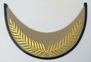 Genuine British Made Senior Officer Gold Wire Palm Leaf Dress Cap Peak PK35