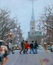 St-Denis UQAM, Montreal, 8x10, Oil , Darlene Young Canadian Artist