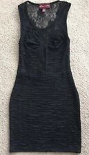 Women's Sugar & Spice Brand Black, Sleeveless, Lacey, Poly/Elastane Dress - sz S
