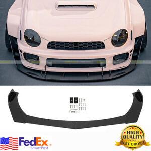 Glossy Black Front Bumper Lip Chin Spoiler For Subaru Legacy Impreza WRX STI