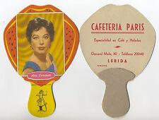 LÉRIDA. Pay Pay de cartón de tipo PUBLICITARIO Ava Gardner. Serie 7. Año 1959.