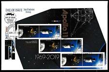 APOLLO 11 - 50 Anniversary - CDN PANE/Souvenir Sheet FDC