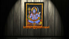 """Indian Cotton Poster 30X40"""" Inches Tapestry Wall Hanging Lord Shiva Home Decor"""