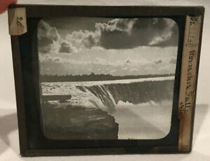Antique Glass Negative #2634 Horseshoe Falls Niagara Falls Kilburn Brothers NH