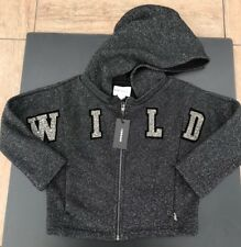 """Diesel Girls Saber Tracksuit Top / Hoodie NWT Bling Sparkly """" WILD """" Size 4"""