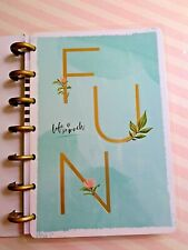 MAMBI Happy Notes 60 pages Notebook FUN Dot Grid Paper 4.65 x 7 inch Aqua