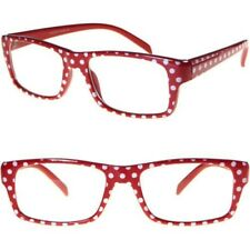 Red Polka Dot Glasses Clear Lens Retro Design Classic Vintage Style Fashion New