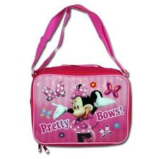 Lunch Bag Insulated + Shoulder Strap Minnie Mouse Girl Pretty Bows New