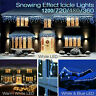 Christmas Lights Icicle Snowing Effect Outdoor/Indoor Xmas House Decor LED Light
