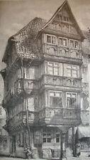 Antique print Halberstadt Germany holzstich 1880