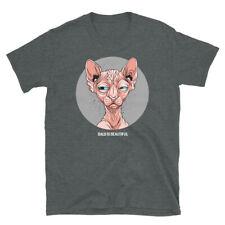 Hairless Feline Sphynx Cat Bald Is Beautiful LongShort-Sleeve Unisex T-Shirt