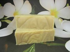"2 Large Bars Pure Natural Goat Milk Soap ""Frangipani""  Olive Oil/Coconut Oil"