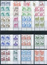 Berlin Burgen und Schlösser postfrisch Eckrand Viererblock LUXUS alle Ecke 4