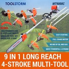 4-STROKE Pole Chainsaw Petrol Pruner Saw Brush Cutter Whipper Snipper Multi Tool
