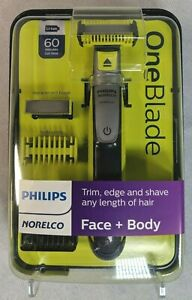 Philips Norelco OneBlade Face and Body Hybrid Electric Trimmer and Shaver