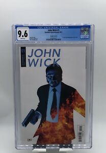 John Wick #1 CGC 9.6 White Pages Variant Cover D - Keanu Reeves Photo Cover