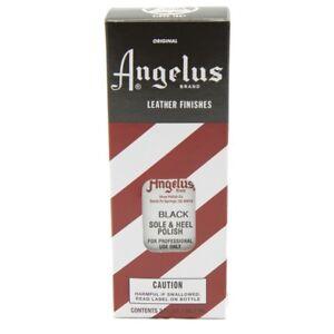 Angelus Fersen und Sohlen Lack schwarz Glattleder Ledersohlen (9,03€/100ml)