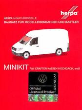 HERPA MiniKit 1:87/H0 Transp. VW Crafter Kasten Hochdach, weiß Bausatz #013178